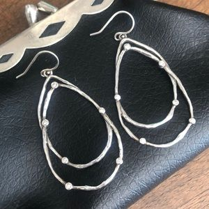 Silpada Sterling and CZ Earrings